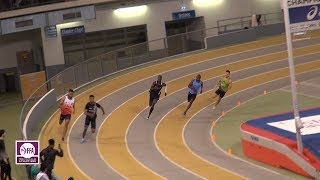 Aubière 2018 : Finale 200 m Espoirs M (Ismail Bedel en 21''04)