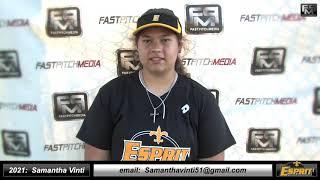 2021 Samantha Vinti Catcher and First Base Softball Skills Video - Esprit Fastpitch