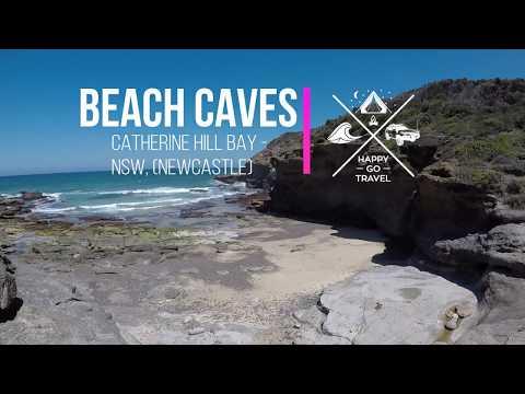 Catherine Hill Bay Beach Caves   Happy Go Travel