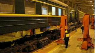 preview picture of video 'Trans-Siberian Railroad: Bogie Changing'