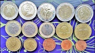 АВЕРС Реверс Гурт 1 2 Euro 10,20,50 cent Germany Italy France Austria Slovenia 1999 2002