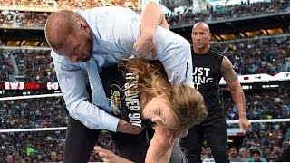 The Rock & Ronda Rousey Destroy Triple H & Stephanie McMahon