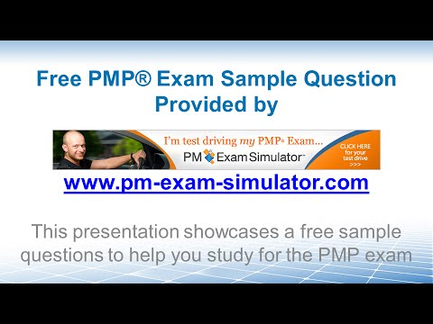 Free PMP Sample Question 01 (Simulation Technique) - YouTube