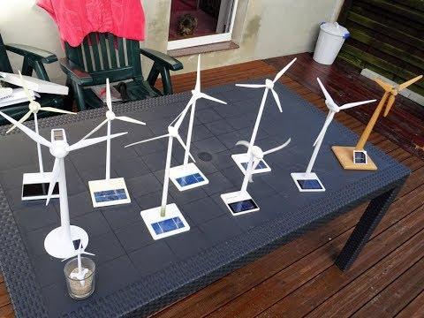 Verschiedene Windrad Solar Modelle, Enercon E-40, E-70, E-66, Vensys, Offshore, Skystream