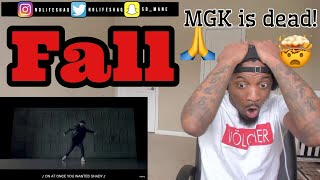 Now its time to RIP MGK! | Eminem - Fall (Official Music Video) REACTION