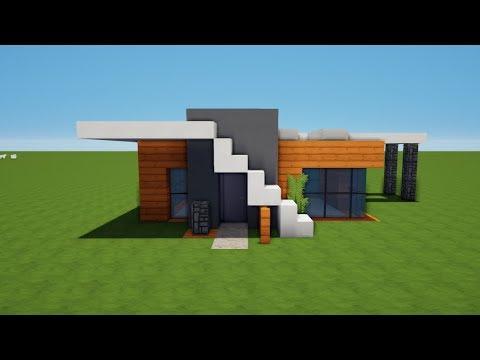 Kleines Modernes Minecraft Haus Bauen Tutorial Haus - Minecraft schones haus bauen tutorial