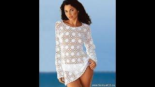 Пляжная Туника Крючком из Мотивов 2017 /Beach Tunic Hook from Motives /Strand-Tunika Crochet Motive