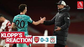 Klopp's Reaction: 'I'm really happy tonight' | Arsenal vs Liverpool