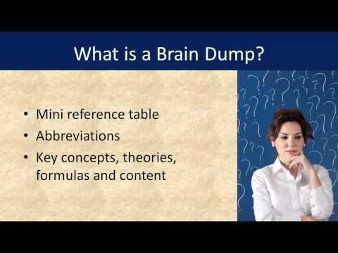 The Secret Of Creating Your PMP Exam Brain Dump Sheet - YouTube