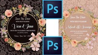 How To Create Wedding Invitation Designs In Photoshop   Studio MS
