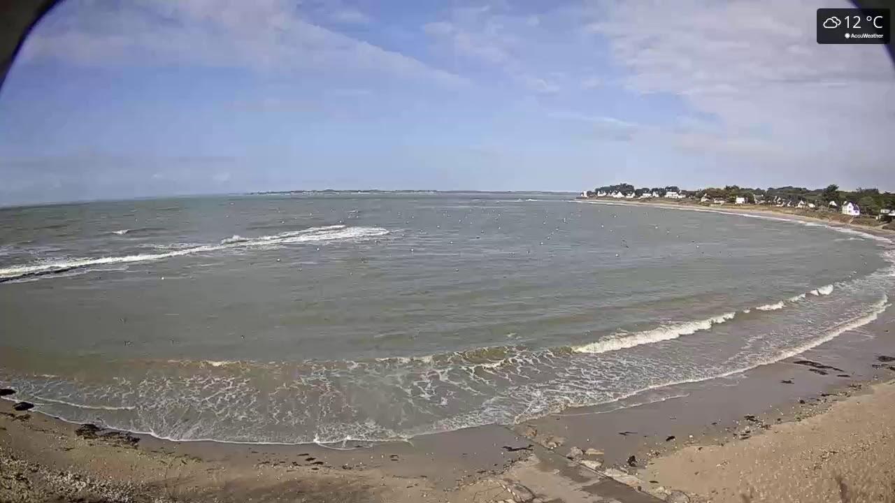 Webcam depuis le mouillage de Lanséria à Mesquer, en Loire-Atlantique