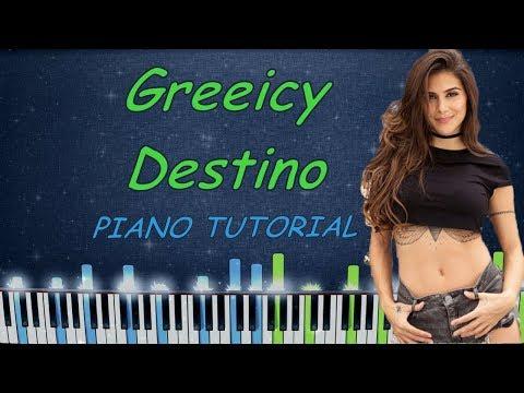 Greeicy Nacho Destino Piano Tutorial Karaoke