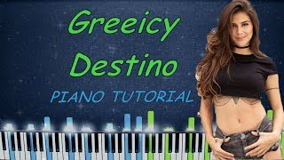 Greeicy, Nacho   Destino | Piano Tutorial | Karaoke
