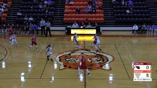 December 18, 2018 Tahlequah Lady Tigers Basketball vs. Collinsville Lady Cardinals