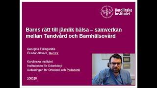 """Lunchföreläsning med Georgios Tsilingaridis om """"Barns rätt till jämlik hälsa"""""""