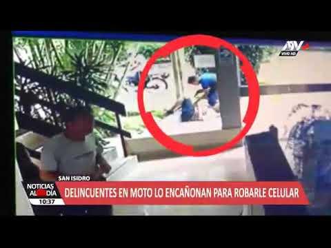 HSS SOLUCIONES ELECTRONICAS CCTV LIMA  San Isidro Cámaras de seguridad captan feroz robo de delincue