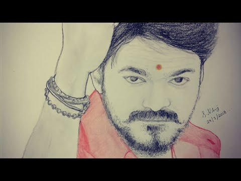 Mersal - Thalapathy Vijay | Pencil Sketch |