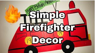 Firefighter Decorations ! 🚒👩🏻🚒🔥