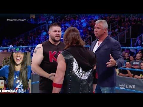 WWE Smackdown 8/15/17 Drama with AJ Styles and KO