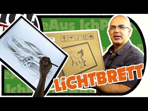 AGPtek LED Lichtbrett - Cooles Zeichen Pad, auch zum Abpausen (Unboxing und Test)