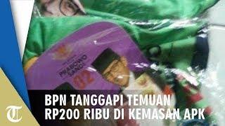 Viral Foto Bungkusan APK Prabowo-Sandi Berisi Uang Rp200 Ribu, BPN: Kami Tidak Ada Uang