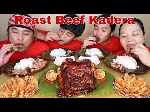 Roast Beef Kadera | Blooming Tom Yum-ion with Garlic Mayonaise sawsawan Pinoy Mukbang!