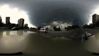 Буря над Озерском в формате 360 градусов