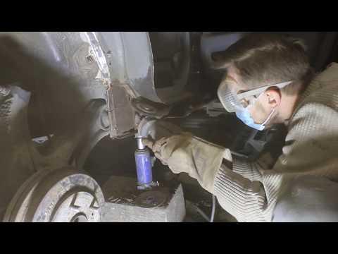 Замена порога,замена арки хонда срв, перевариваем гнилой пол