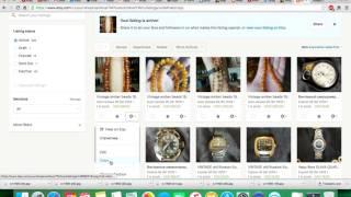 Как быстро выставить лот с аукциона Ebay на аукцион ETSY