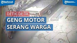 Video Detik-Detik Geng Motor di Tasikmalaya Menyerang Sekelompok Warga, Nyaris Terjadi Bentrok
