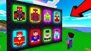 КАКОЙ ПОРТАЛ ВЫБЕРЕТ СУПЕРГЕРОЙ В МАЙНКРАФТ? Нубик против Супермен, Флеш и Халк в Minecraft Мультик