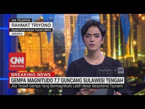 Breaking News! Gempa 7,7 Magnitudo Guncang Sulawesi Tengah I Kepala Pusat BMKG, Rahmat Triyono