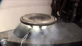 Blowing up 10 subwoofers with 120 volts! (Part 1)