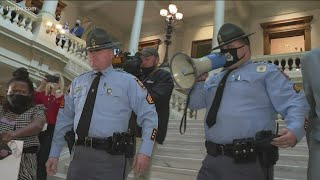 House members threatened with arrest at Georgia State Capitol protest