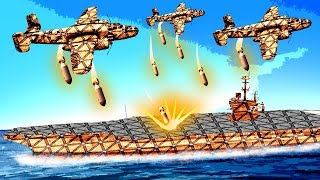 Massive Bomber Planes Destroy This Huge Aircraft Carrier In Forts!