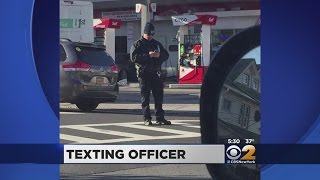 Cop Caught Texting On The Job