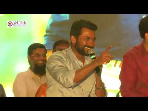 Actor Suriya  at Vel Tech for Lavaza
