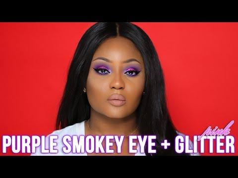 Pink Glitter + Purple Smokey Eye Tutorial | Youkeyy