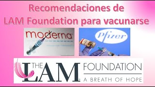 Recomendaciones de LAM Foundation para vacunarse – Linfangioleiomiomatosis