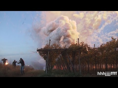 Fireworks Launch Malfunction Causes Massive Explosion
