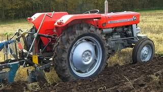 1975 Massey Ferguson 135 2.5 Litre 3-Cyl Diesel Tractor With Ransomes Plough