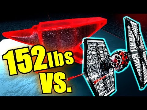 Lego TIE Fighter SMASHED In SUPER Slo Mo * STAR WARS * 152 Lbs.!
