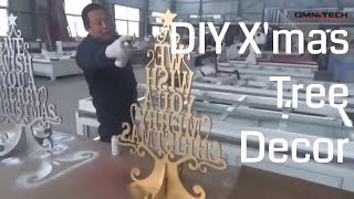 Decorate DIY Wooden  Christmas Tree Cutting with CNC Router Woodworking