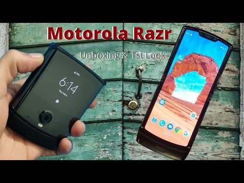 Motorola Razr Unboxing and 1st Impression