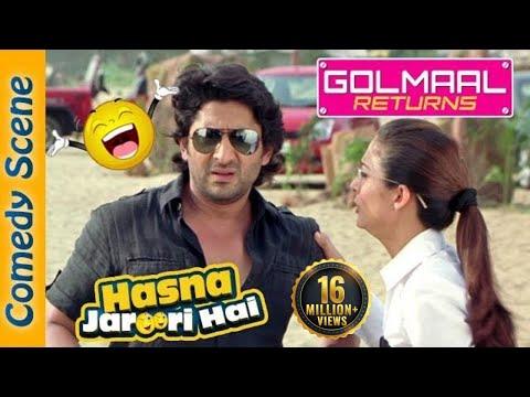 Arshad Warsi Best Comedy Scene - Hasna Zaroori Hai - Golmaal Returns - Indian Comedy