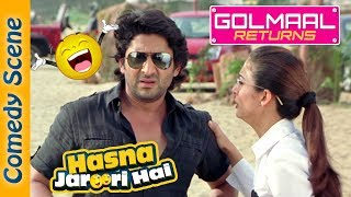 Arshad Warsi Best Comedy Scene - Hasna Zaroori Hai - Golmaal Returns - Indian Comedy