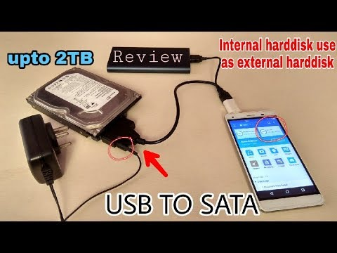 Sata to Usb cable converter Review | use internal hard drive as external hard drive | Tech with King
