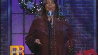 Aretha Franklin singing Angels We Have Heard On High