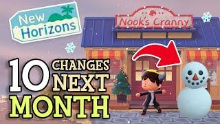 Animal Crossing New Horizons 10 CHANGES & NEW ITEMS in DECEMBER (Winter Update Tips You Should Know)