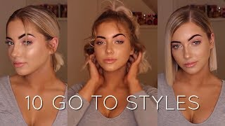 HOW I STYLE MY SHORT HAIR | Katherine Rose